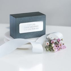 Personalised Rectangle Cufflinks Gift Box