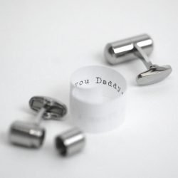 Personalised Secret Message Cufflinks with Gift Box