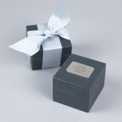 Tying The Knot Stud Earrings Personalised Gift Box