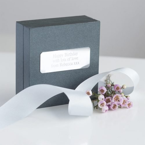 Personalised Silver Heart Clasp Bracelet Gift Box